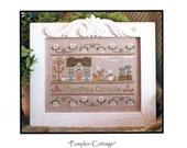 Country Cottage Needlework: Pumpkin Cottage - Cross Stitch Pattern