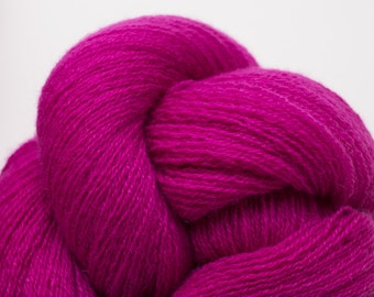 Electric Magenta Cashmere Lace Weight Recycled Yarn
