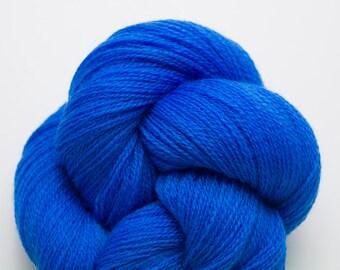Crayola Blue Wool Lace Weight Reclaimed Yarn, WOL00080