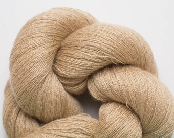 Golden Sand Silk Cashmere Cobweb Weight Recycled Yarn