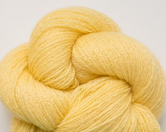 Yellow Sunshine Cashmere Lace Weight Recycled Yarn, 962 Yards Available