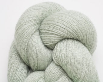 Lace Weight Recycled Cashmere Yarn, Pale Sage Green Cashmere Lace Weight Recycled Yarn, Celadon Green Cashmere, 785 Yards Available