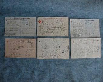 6 Antique Pharmacy Medicine Prescriptions Elixirs Morphine Codeine 1903 Massachusetts Doctors Pharmacist