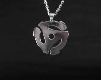 Sterling silver 45 adaptor pendant