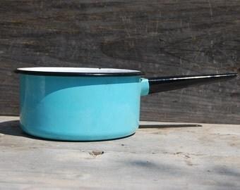 Sky Blue Enamelware Saucepan