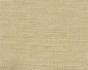 VINTAGE PECAN BUTTER Hand-dyed counted cross stitch fabric : 36 ct. count linen overdyed Lakeside Linens hand embroidery