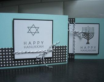 Hanukkah Cards Set of 2, Menorah, Star of David