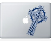 Celtic Cross DECAL-  Gaelic - macbook iPad computer- vinyl sticker