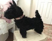 Old Straw Filled Terrier Scottie Dog Made in England