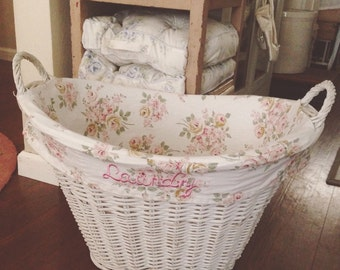 Beautiful Vintage Rachel Ashwell Laundry Basket