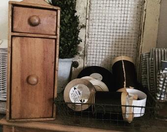 Vintage Primitive Farmhouse Spice Cabinet
