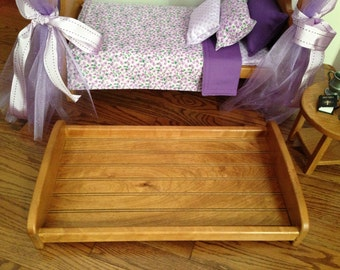"""Trundle bed tray for 18"""" American Girl Doll: trundle bed or storage"""
