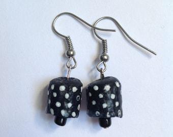 Hand Painted Polka Dot Earrings