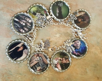 Penny Dreadful Fans Bottle Cap Charm Bracelet