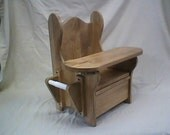 Reg. Potty Chair w/ tray, T.P. holder and book rack