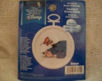 Eeyore & Butterfly Cross Stitch Kit: Comes with...