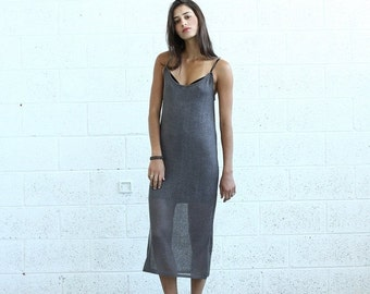 Final Summer Sale Knitted Tank Dress , Brown.