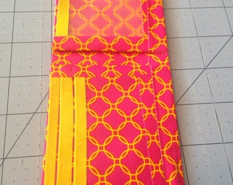 Pink with Yellow Circles duct tape wallet