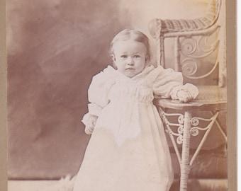 Little Girl Cabinet Card