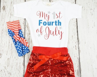 first 4th of july baby outfit, first fourth of july outfit, baby girl outfit, fourth of july outfit, my first fourth, girl outfit, toddler