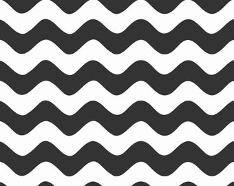 1YD WAVE BASICS Black White Ric Rac Halloween Riley Blake Fabric Quilting Sewing  c415-110-black-16334