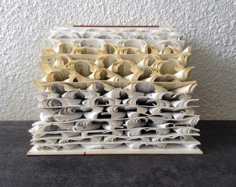"Book Art Sculpture ""Stormy sea"""