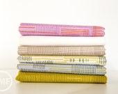Carkai Stitches Half Yard Bundle, 6 Pieces, Carolyn Friedlander, Robert Kaufman Fabrics, 100% Cotton Fabric, AFR-15796