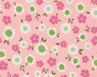 Whimsical Storybook Daisies in Garden, Tara Lilly, Robert Kaufman Fabrics, 100% Cotton Fabric, AYT-15656-238 GARDEN