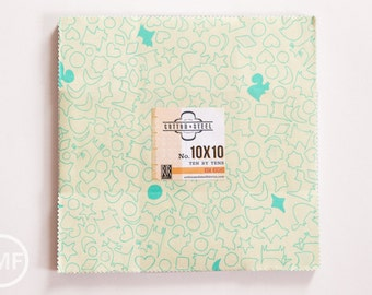 Cookie Book Ten by Tens, Layer Cake, Kim Kight, Cotton and Steel, RJR Fabrics, Pre-Cut Fabric Squares, 3999-08