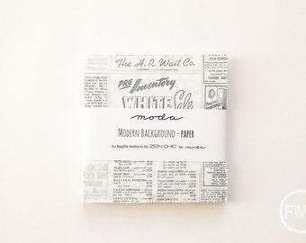 Modern Background Paper Charm Pack, Brigitte Heitland, Zen Chic, Moda Fabrics, Pre-Cut Five Inch Fabric Squares, 1580PP