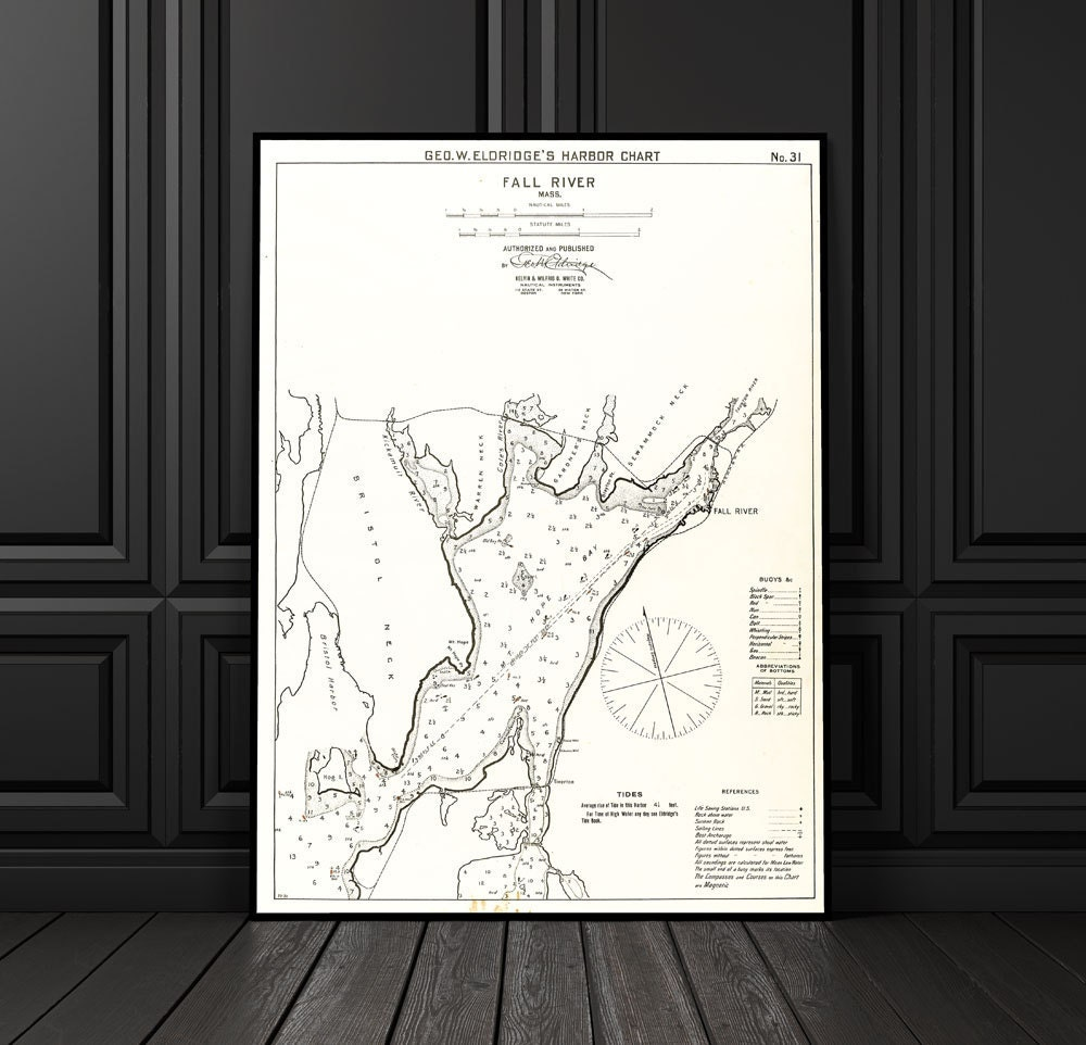 Antique print of a fall river massachusetts map on your for 12x15 calculator