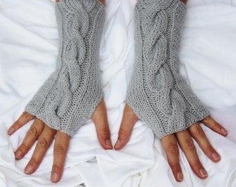 Fingerless Gloves - Gray Gloves - Ready to ship