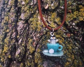 Teacup Penguin Necklace