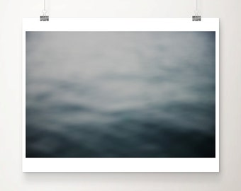 beach photography ocean photograph teal photograph surreal photograph abstract photograph monochrome print minimalist decor