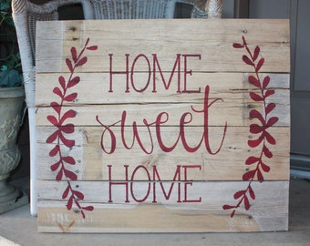 LARGE Home Sweet Home Pallet Sign