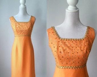 Vintage Dress, Orange Vintage Dress, 1960s Dress, 60s Orange Dress, Mod Orange Dress, 60s Party Dress, Retro 60s Dress, Vintage 60s Dress