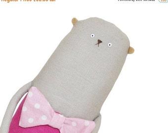 ON SALE 25% OFF Artist Teddy Bear, Plush Bear Softie, Stuffed Bear, One of a Kind Bear, Stuffed Animal, Kids Toy, Special Gift for Friend, P