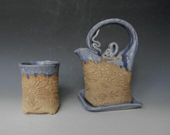 Antique Lace Impressed 1 Cup Tea Set