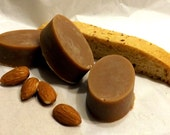 Almond Biscotti, Set of 3, 1oz Soap Bar, Goats Milk Soap, Food Scented Soap, Holiday Soap, GoatMilk Soap, Toasted Almonds, Chocolate Soap