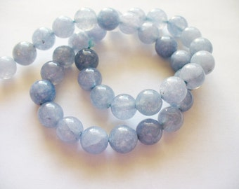 Aquamarine Beads Gemstone  Blue/Gray Round 8MM