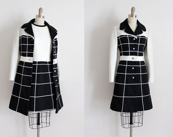 vintage 1960s Lilli Ann dress set // 60s mod space age jacket and dress