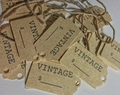Small Price Tags With Strings For Vintage Items Scented Tea Stained Glimmer