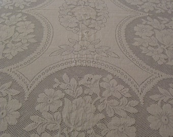 Vintage Lace Tablecloth 60x80 inches
