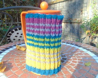 Hand knitted French Press Coffee Cafteria