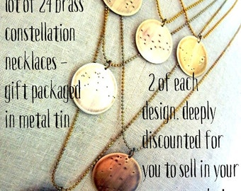 Zodiac Constellation Necklace | WHOLESALE | BULK | 24 Necklaces for your shop, boutique, web site, store