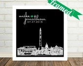 Wedding Gift Personalized Skyline Unique Gay Wedding Gift Gay Marriage Gift FRAMED Any City Available Worldwide Wedding Skyline Art LGBT