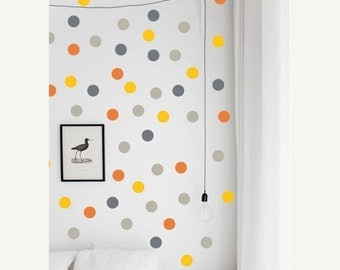 ON SALE - Removable Wall Polka Dots - Vinyl Wall Decal Stickers -  Set of 28 vinyl circles