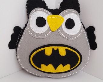 Fluffy Batman Owl