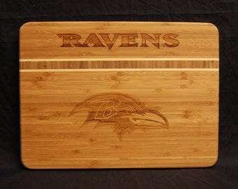 Baltimore Ravens, Ravens, Cutting Board, Superbowl, Bamboo