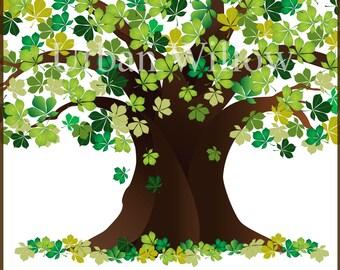 Oak tree clipart | Etsy